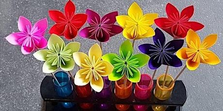 Origami workshop - How to fold flower bilhetes
