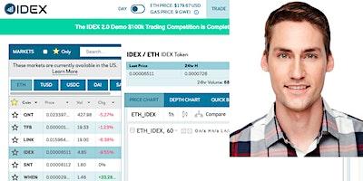 Alex Wearn, CEO of IDEX, the #1 decentralized exchange on Ethereum