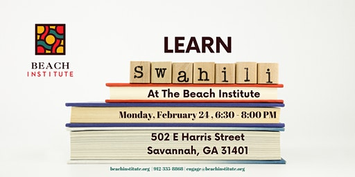 Learn Swahili at the Beach Institute!