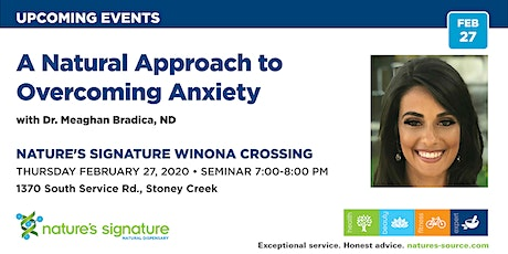 A Natural Approach to Overcoming Anxiety tickets