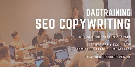 Praktijkgerichte dagtraining SEO COPYWRITING | 23/04 Zoersel (Antwerpen) tickets