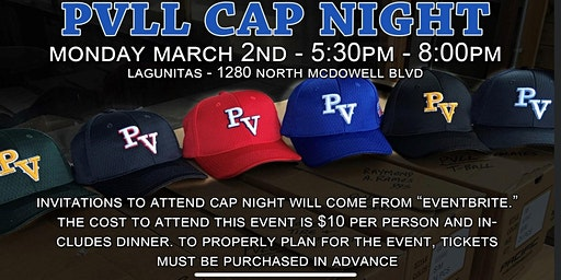 Petaluma Valley Little League Cap Night
