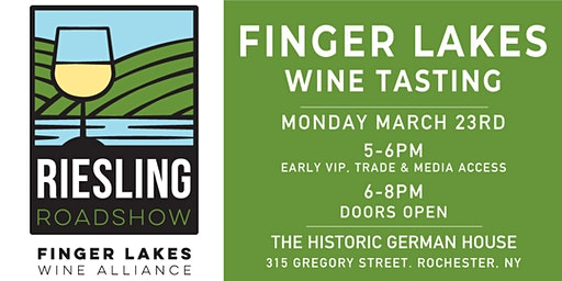 Finger Lakes Riesling Roadshow Rochester