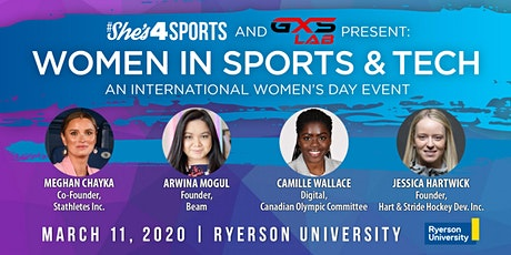 An International Women's Day Event: Women In Sports & Tech tickets