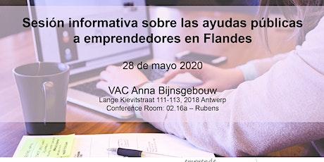 Sesión informativa sobre las ayudas públicas a emprendedores en Flandes entradas