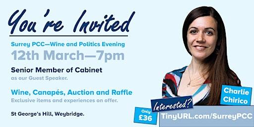 Surrey PCC - Wine and Politics Evening