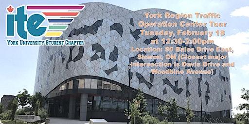 York Region Traffic Operation Center Tour