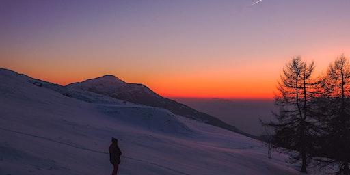 Balade en raquettes à neige coucher du soleil sur le Markstein !