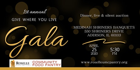 Roselle Food Pantry Give Where You Live Gala 2020 tickets