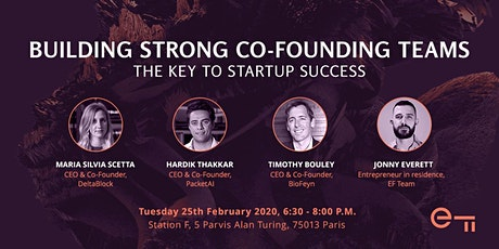Building strong co-founding teams - The key to startup success tickets