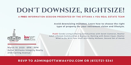 Don't Downsize, Rightsize! tickets