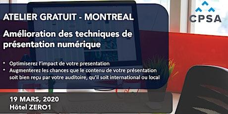Atelier gratuit: Amélioration des techniques de présentation numérique billets