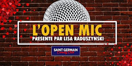 L'open mic billets
