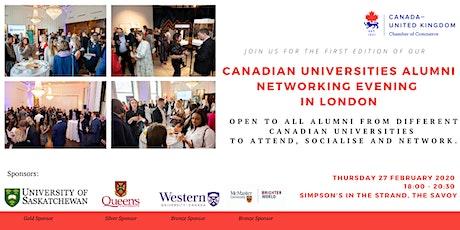 Canadian Universities Alumni Networking Evening tickets