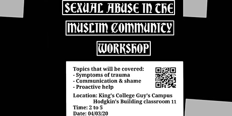 Sexual abuse and Mental Health in the Muslim community workshop tickets
