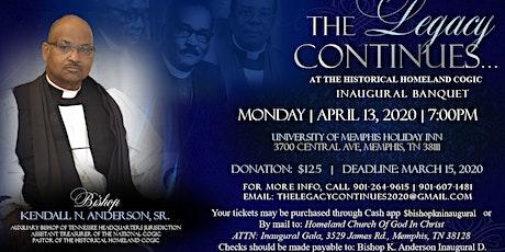 Bishop Kendall Anderson Inaugural Banquet tickets