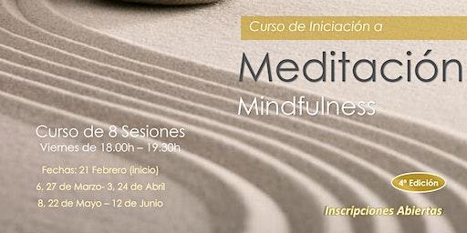 Curso de Iniciación a Meditación Mindfulness -  Mindfulness Course