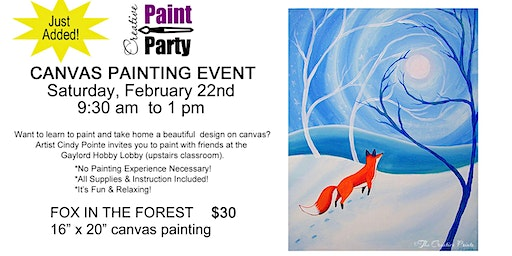 Fox in the Forest--New Class Added--Sat. Feb 22  9:30 am