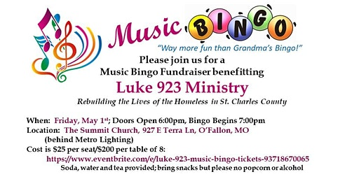 Luke 923 Music Bingo
