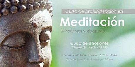 Curso de Profundización a Meditación (Mindfulness y Vipassana) - Meditation Deepening Course entradas
