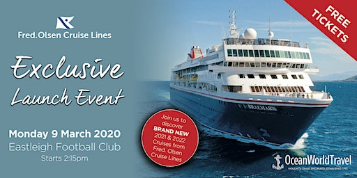 2021/22 Brand New Itineraries Launch Event with Fred. Olsen Cruise Lines