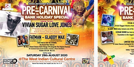 PRE-CARNIVAL Bank Holiday Special tickets