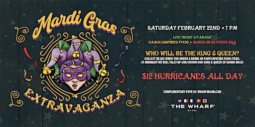 Mardi Gras Nighttime Extravaganza at The Wharf Miami