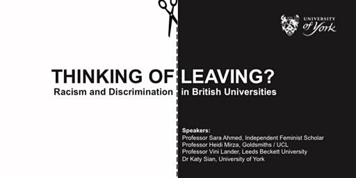 Thinking of Leaving? Racism and Discrimination in British Universities