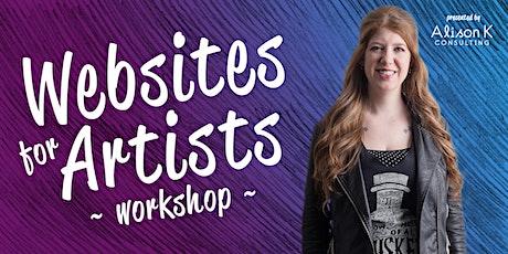Websites For Artists Workshop tickets