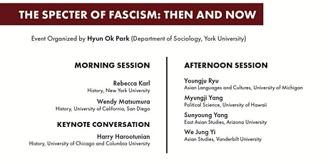 The Specter of Fascism: Then and Now tickets
