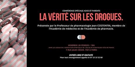 La vérité sur les drogues | Conférence du professeur Costentin billets