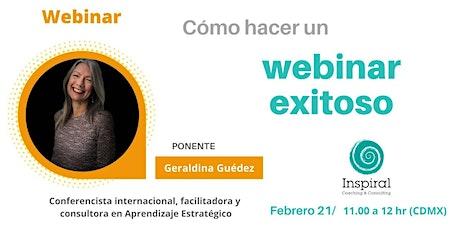 Webinar/Conferencia virtual: ¿Cómo hacer un Webinar exitoso? entradas