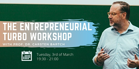 Workshop: The Entrepreneurial Turbo tickets