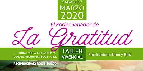 EL PODER SANADOR DE LA GRATITUD tickets