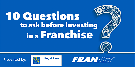 (Winnipeg) 10 Questions to ask before investing in a franchise - RBC tickets