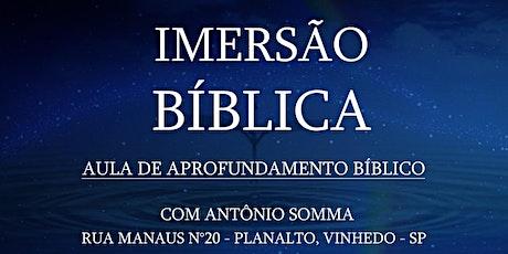 Aula de Aprofundamento Bíblico ingressos
