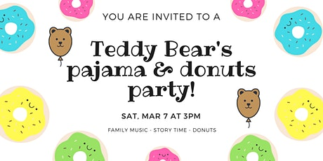 Teddy Bear's Pajamas and Donuts party tickets