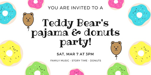 Teddy Bear's Pajamas and Donuts party