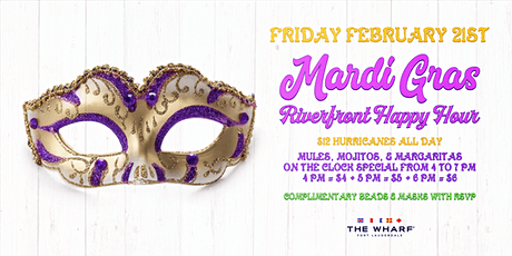 Mardi Gras Riverfront Happy Hour tickets