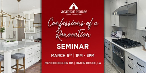 Confessions of a Renovation Seminar