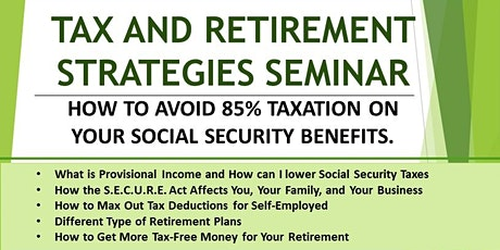 Tax and Retirement Strategies Seminar tickets