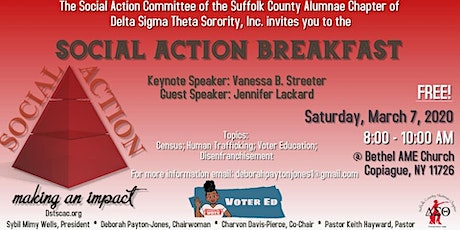 Social Action Committee of DSTSCAC: Social Action Breakfast  tickets