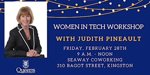 Women in Tech Workshop with Judith Pineault