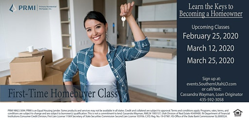 Hurricane - First-Time Home Buyer Class - March 25