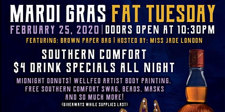 Mardi Gras by The Whiskey Bar and Southern Comfort tickets