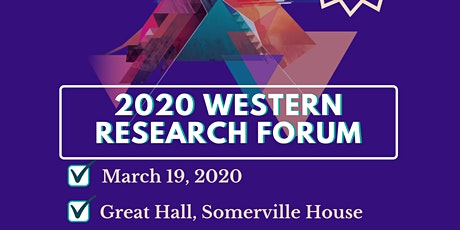 Western Research Forum 2020 tickets