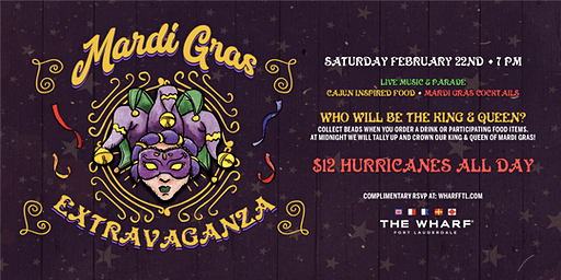 Mardi Gras Nighttime Extravaganza at The Wharf Fort Lauderdale