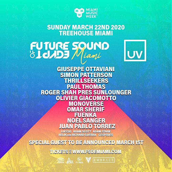 FSOE + UV @ Treehouse Miami image