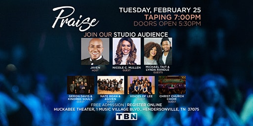 TN - Javen w/Nicole C. Mullen, Michael Tait & Lynda Randle, Geron Davis & Kindred Souls, Nate Bean & 4Given, Christ Church Choir and The Voices of Lee