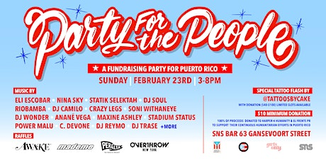 Party For The People @ SNS Bar tickets